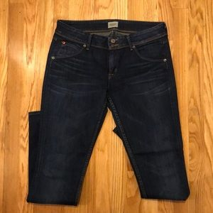 Hudson straight leg jeans dark wash